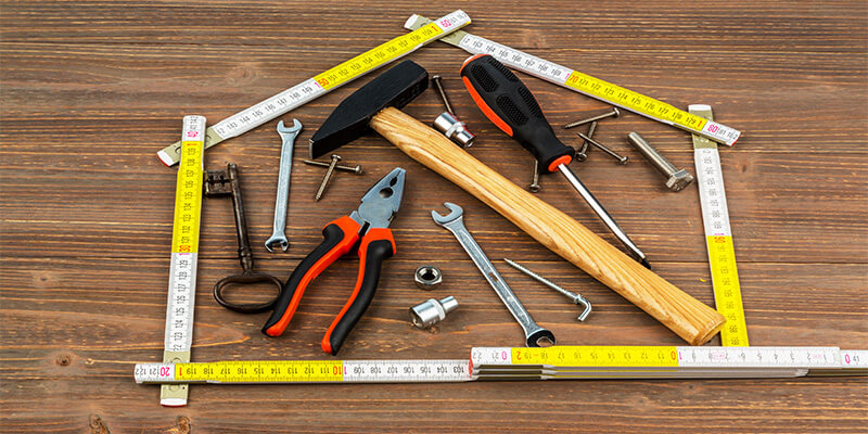tools in the shape of a house